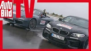 Porsche Boxster S vs. BMW M2 - Test/ Fahrbericht/ Review/ Sound