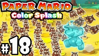 Paper Mario Color Splash - Wii U Gameplay Walkthrough PART 18 - Sacred Forest: Turnip Rescue Squad