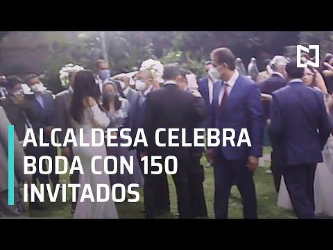 Alcaldesa de Naucalpan celebra boda pese a pandemia de COVID-19 - Las Noticias