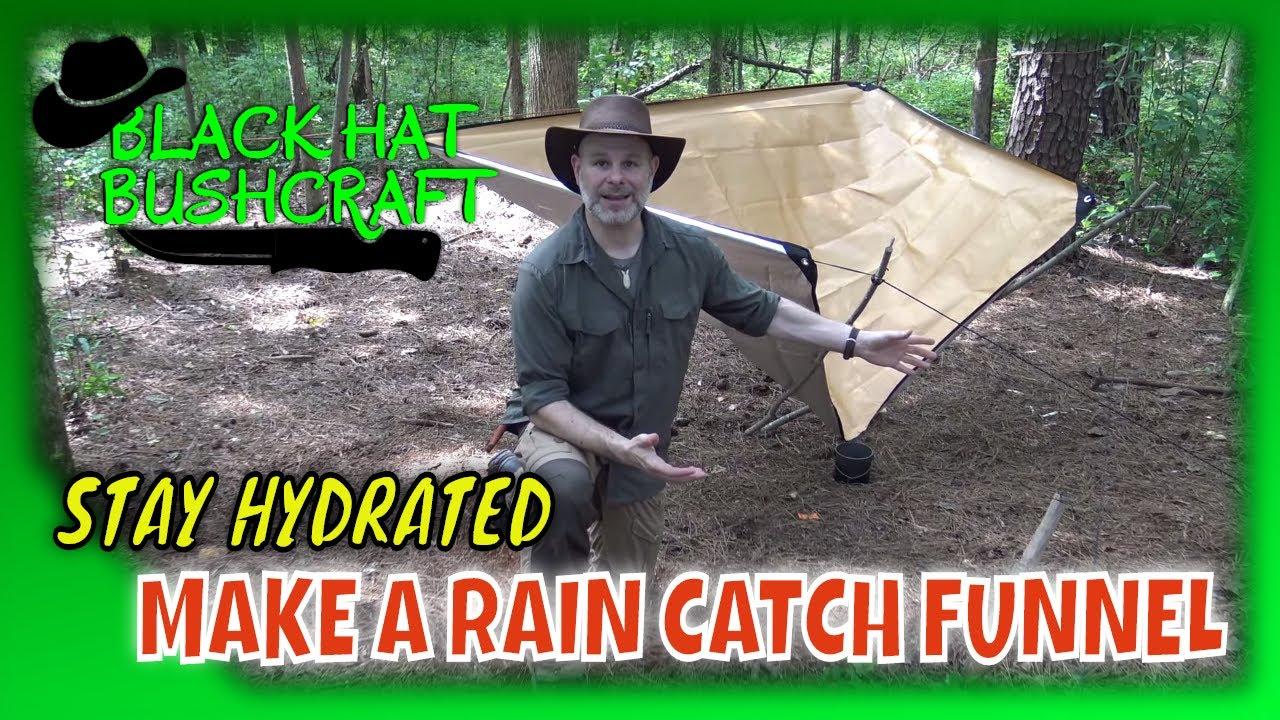 How to Set Up a Rain Catch Funnel: (Bonus How to Set Up a Ridge Line)