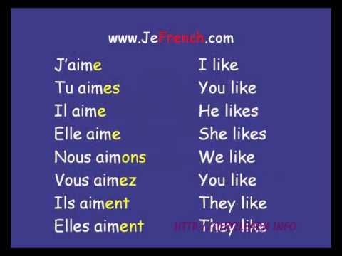 Lession 6 -Aimer - First french Sentences.avi - YouTube