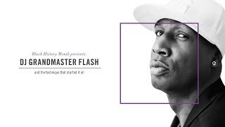 DJ Grandmaster Flash Demonstrating His Techniques On The Turntable