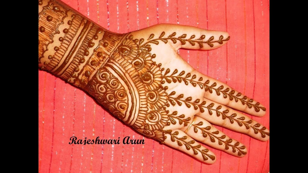 Special Simple Bridal Mehndi Henna Design For Full Hands For
