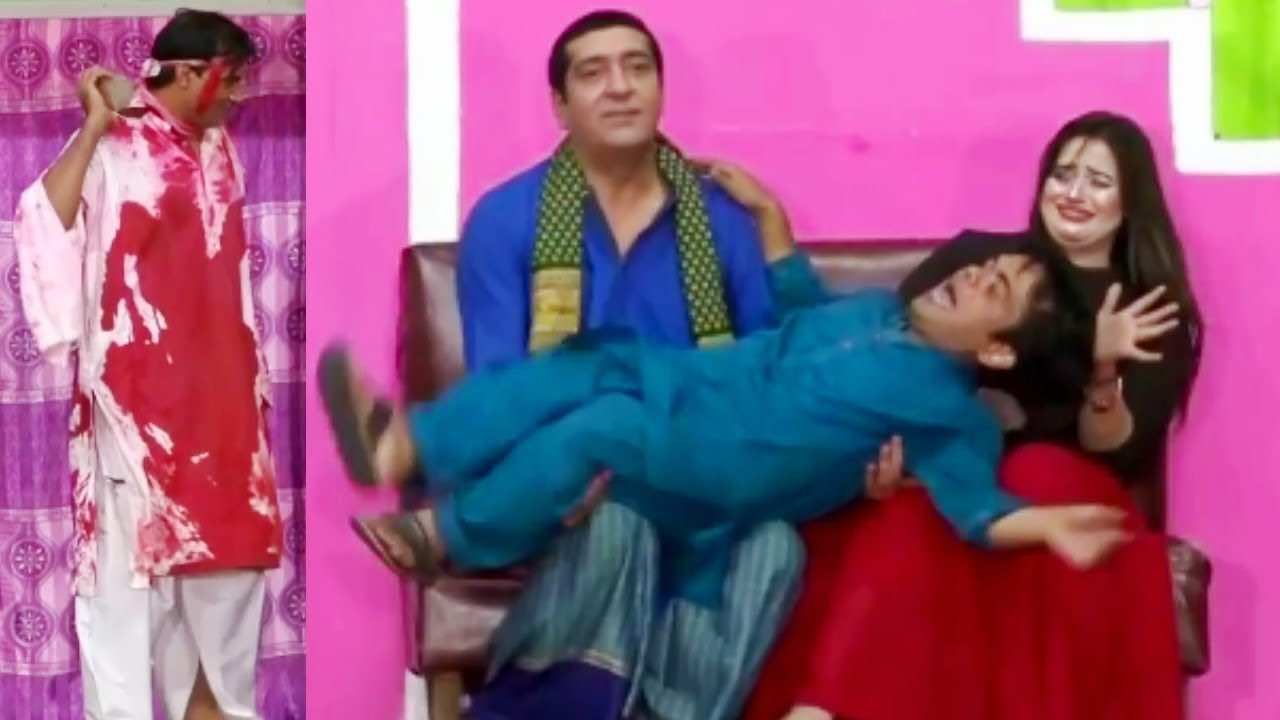 Zafri Khan and Vicky Kodu Stage Drama Baazigar Comedy Clip 2019