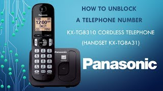 Panasonic KX-TGB310 Telephone -  How to
