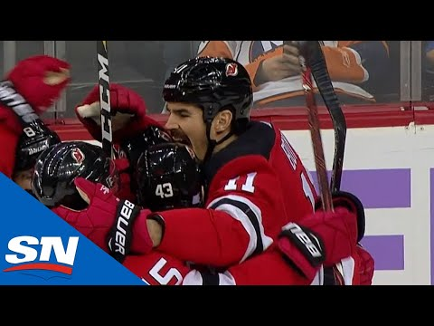 Brian Boyle Scores On Devils' Hockey Fights Cancer Night