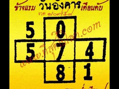 หวยเด็ดงวด 1/09/58 เลขเด็ดงวด 1 กันยายน 58 งวดนี้มีรางวัลเลขหน้า 3 ตัวเป็นครั้งแรก