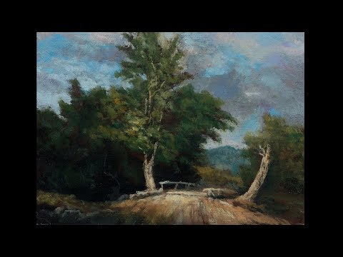 Study after George Inness – Landscape Tonalist Landscape Oil Painting