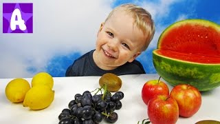 Little Baby Boy Play and Learn Fruits Names / Learning for Kids / Learn names of fruits vegetables
