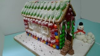 super easy gingerbread house