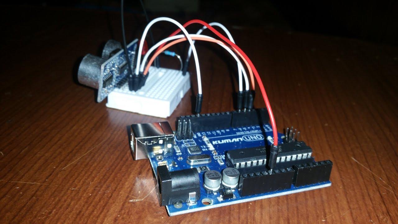 Arduino HC-SR04 + LED - YouTube