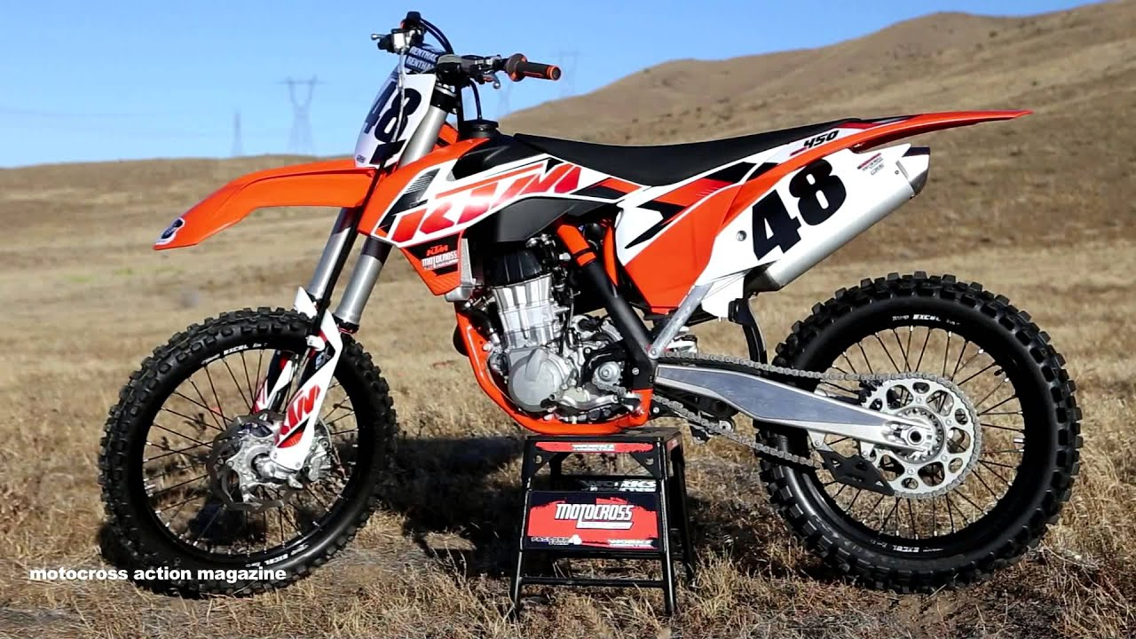 First ride 2015 ktm 450sxf motocross action magazine youtube - Moto crosse ktm ...