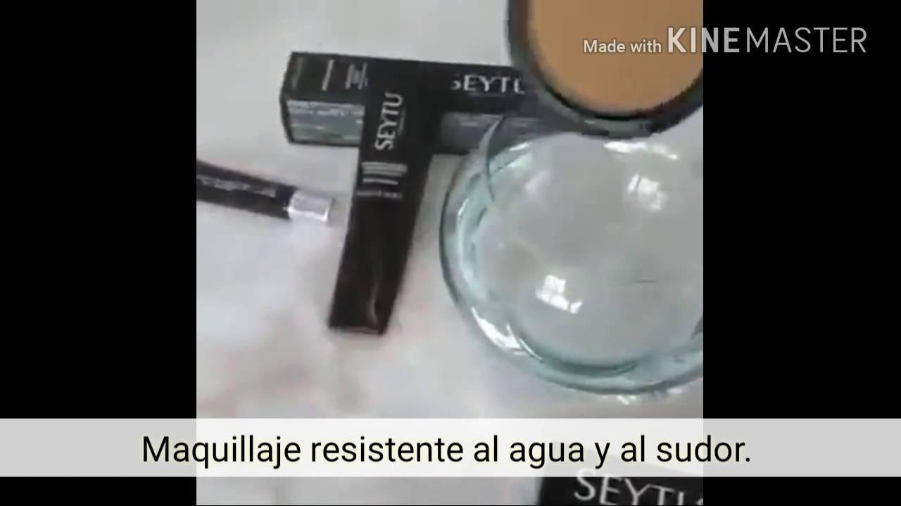 Maquillaje de larga duraci n resistente al agua y al - Pegamento para plastico resistente al agua ...