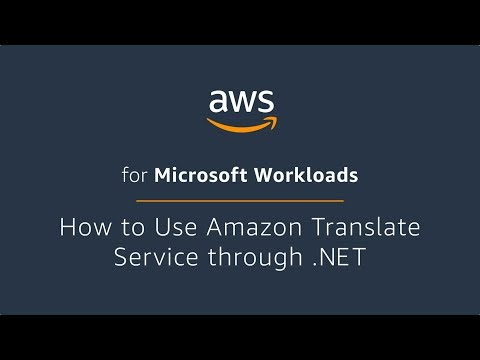 How to Use Amazon Translate Service through .NET