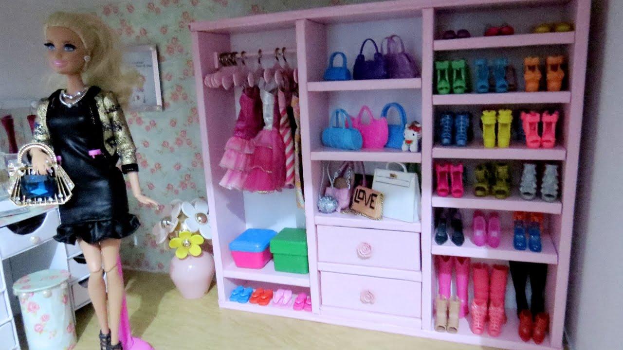 Guarda Roupa Closet Para Barbie Diy Papel 227 O E Isopor