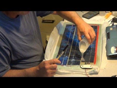 solartekTV ~ final steps ~ solar panel laminates ~ DiY flex panel ~ summary info