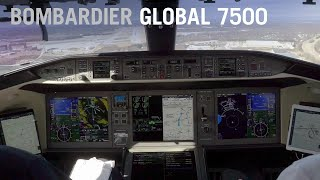 Landing the Bombardier Global 7500 (Cockpit View) – AINtv Express