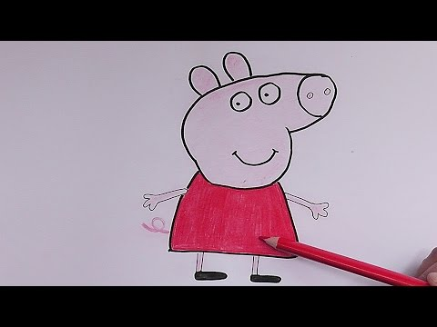 Worksheet. Como dibujar y pintar a Pepa Pepa Pig  How to draw and paint