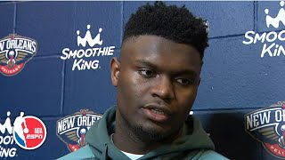 Zion Williamson says he played 'alright' in his 2nd career game | NBA Sound
