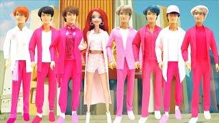 Play Doh BTS 방탄소년단 '작은 것들을 위한 시 Boy With Luv feat  Halsey' Inspired Costumes