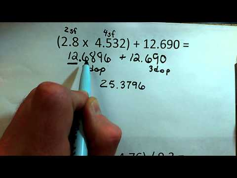 Significant figures in mixed operations