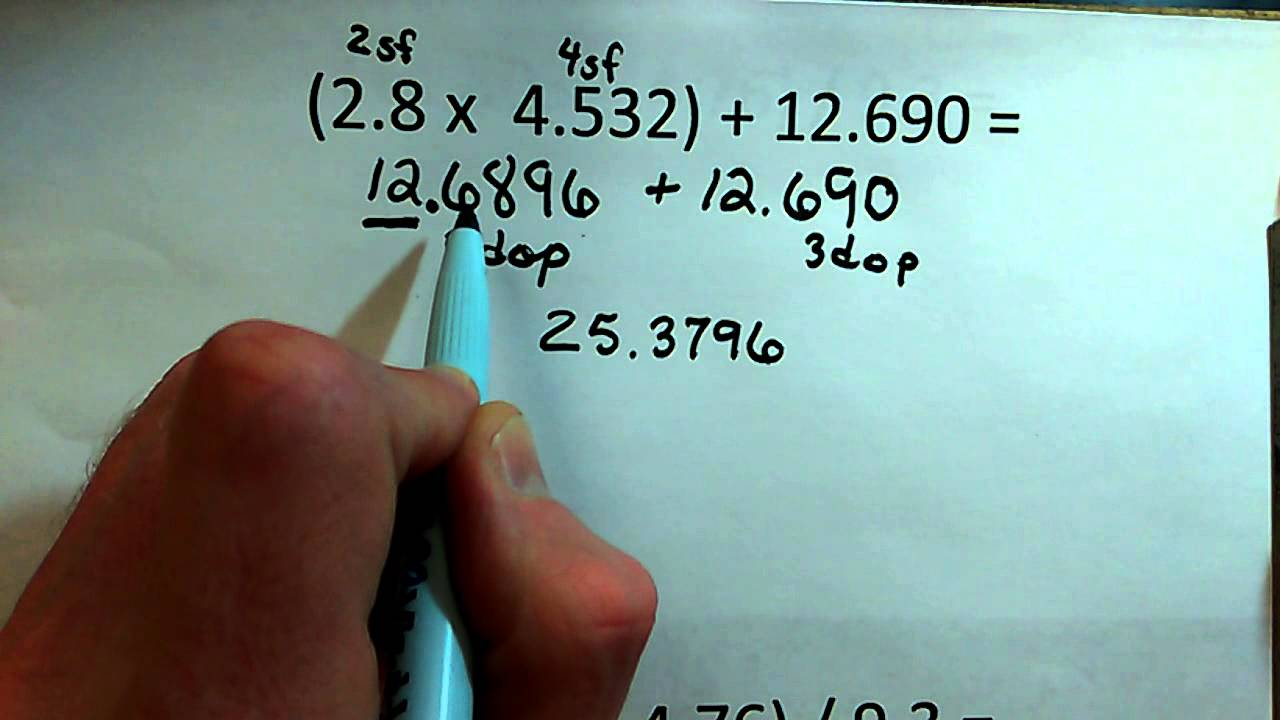 Significant figures in mixed operations - YouTube