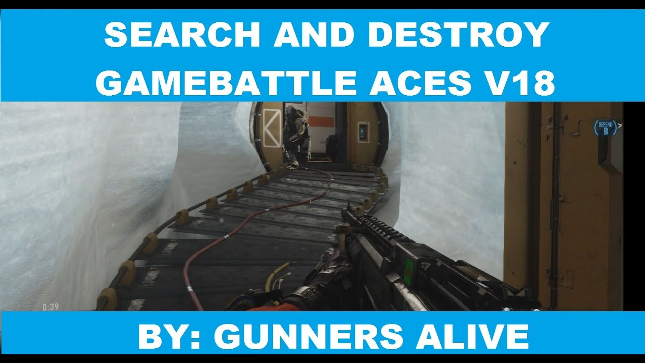 3V3 SEARCH AND DESTROY GAMEBATTLE ACES V18   COD ADVANCED WARFARE - YouTube