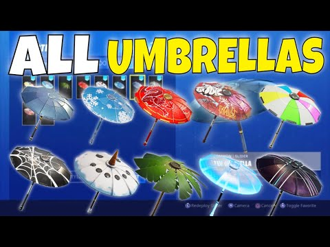 ALL Seasons 1-10 Victory Royale Umbrellas In Fortnite