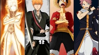 Top 200 strongest One Piece / Fairy Tail / Naruto / Bleach / Seven Deadly Sins characters