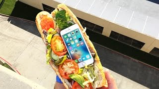 Can Subway Sandwich Protect iPhone 6s from Extreme 100 FT Drop Test? - GizmoSlip