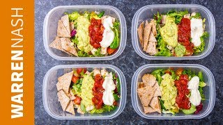 Meal Prep for Weight Loss - 166 Calorie Mexican Chicken Salad Recipe - Warren Nash