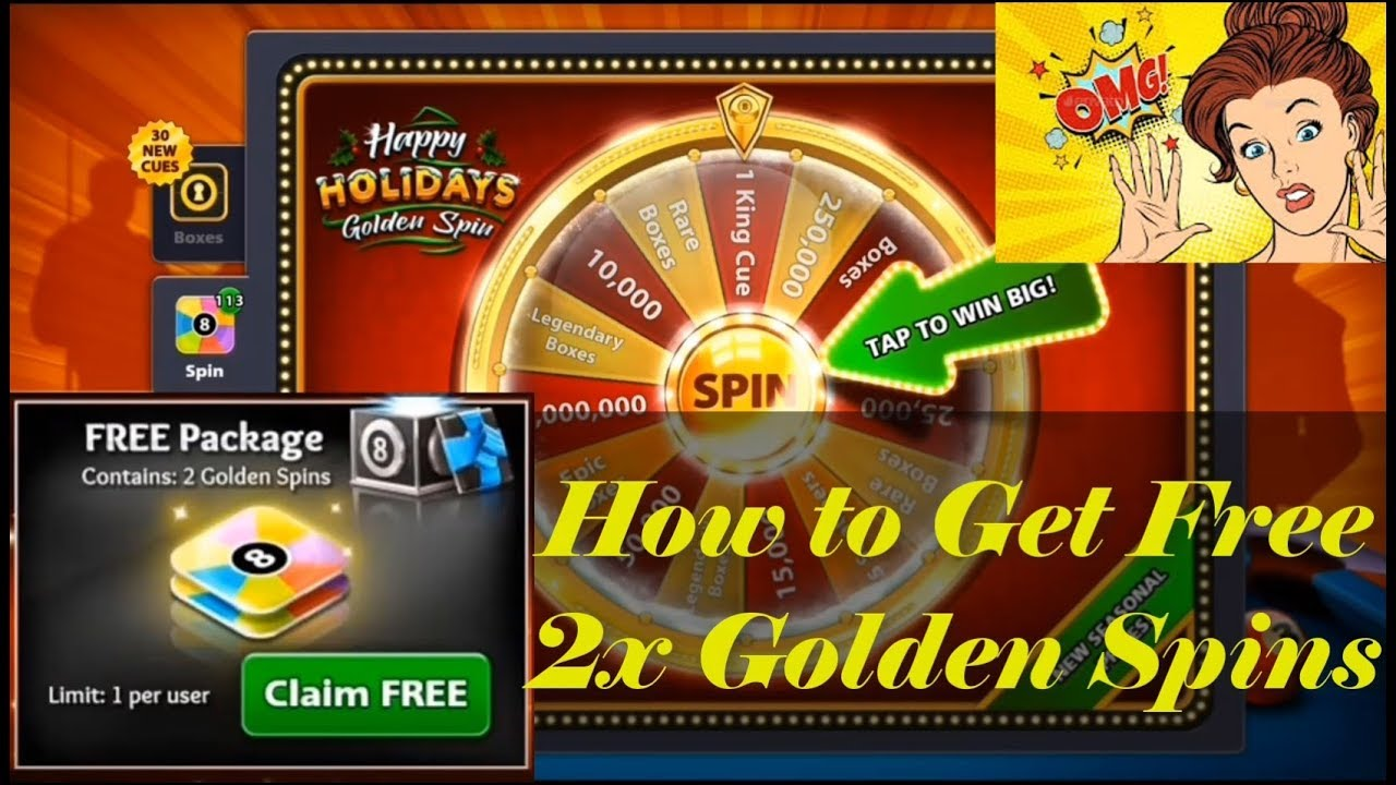8 ball pool how to get free spins