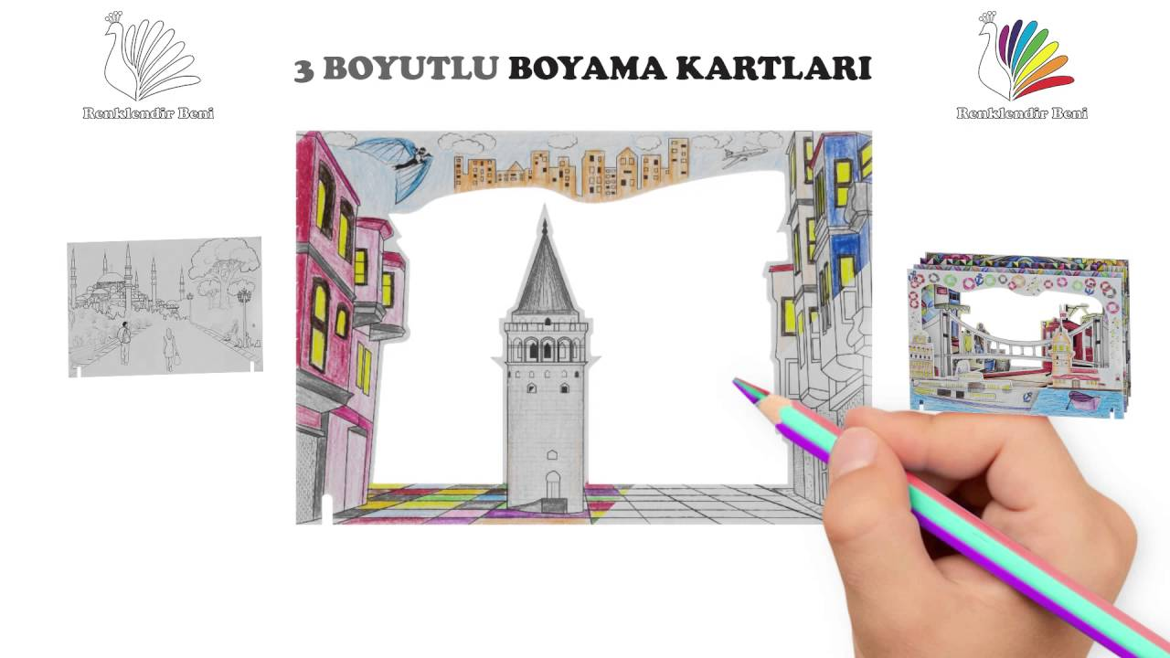 3 Boyutlu Boyama Kartlari Animasyon Calismasi Youtube