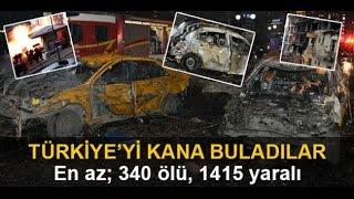 TURKEY News 2016 - 2016 Yılı Türkiye Başlıca Bombalı Saldırılar Ve Patlamalar Full !