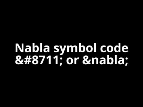 html symbols - what is html nabla symbol code