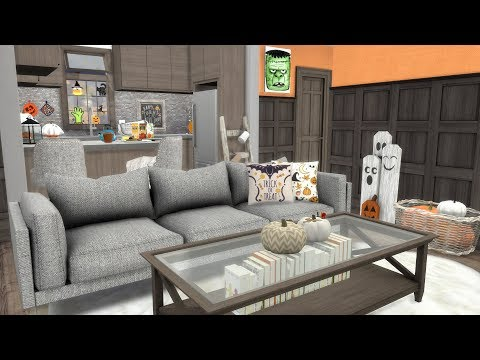 The Sims 4: Speed Build // TINY HALLOWEEN APARTMENT