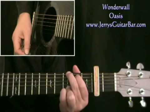 Oasis - Wonderwall | Guitar Lesson, Tab & Chords | Jerry's