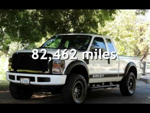 2008 Ford F 250 Diesel Truck 6 0l Extended Cab Short Bed Lifted For