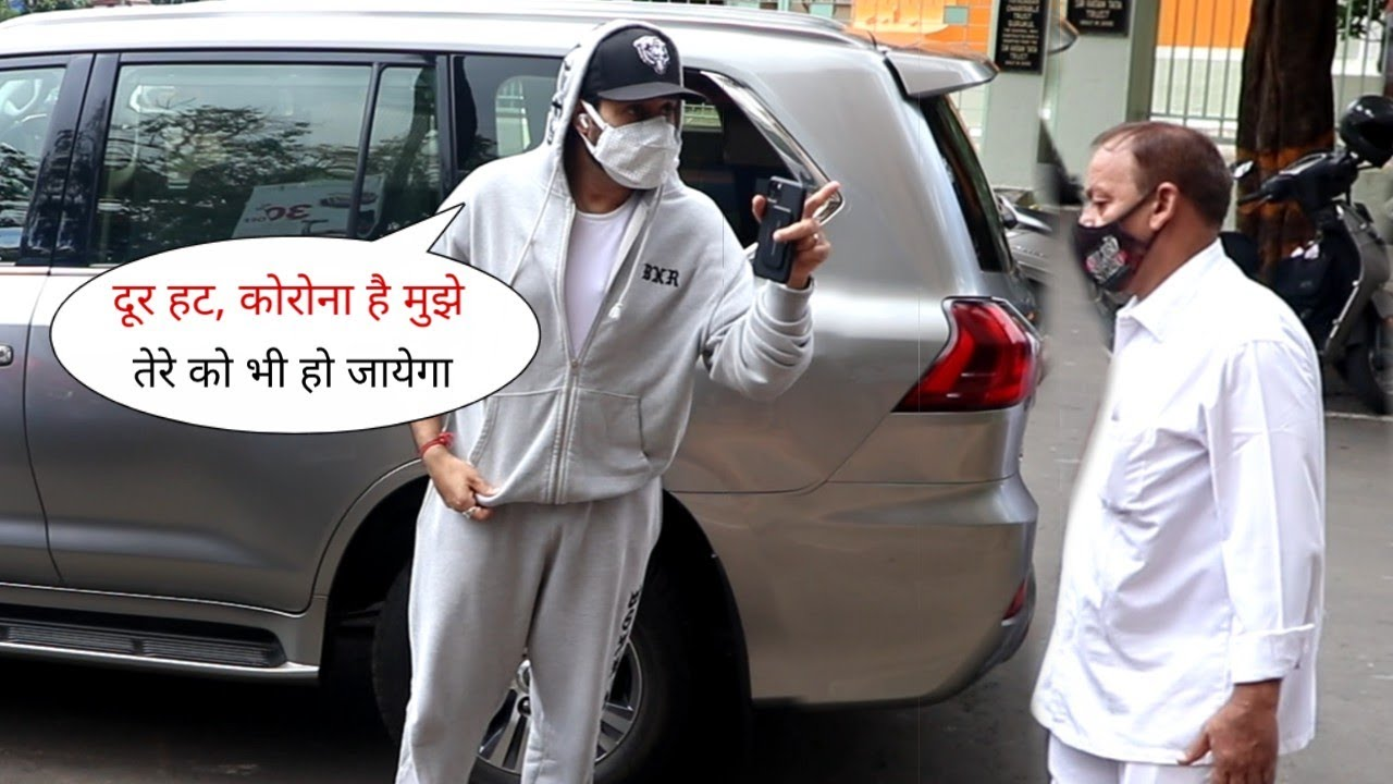 Abhishek Bachchan Caring Media Reporter who walking Nearer to him after Positive | Gave Advice also