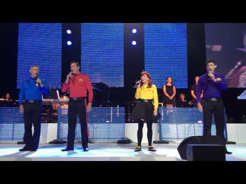 The Wiggles perform the Australian Anthem Advance Australia Fair