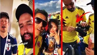 Colombianos En  El Mundial De Rusia 2018 (Se Burlan De Japoneses Y Se Burlan De La Seguridad Rusa)