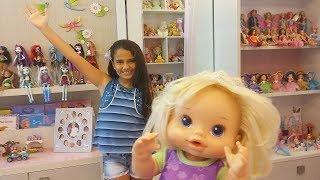 MEU QUARTO - Tour com minhas bonecas e Barbies - Baby Alive Bia Bagunça e Bela DisneySurpresa