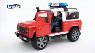 Land Rover Defender Station Wagon пожарная машина с фигуркой( 02-596) Bruder (Брудер)