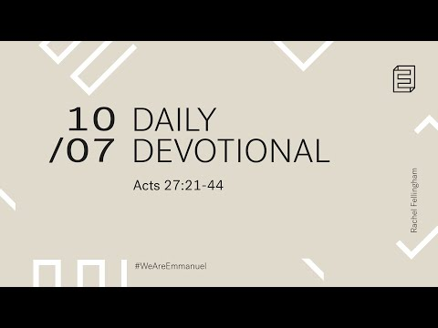 Daily Devotional with Rachel Fellingham // Acts 27:21-44 Cover Image