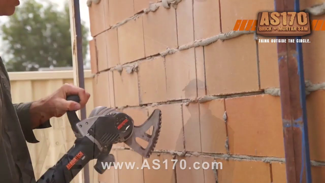 Cut Brick Walls With The Arbortech AS170