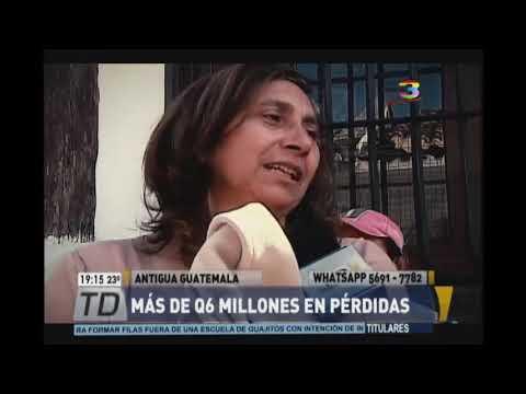 Antigua Guatemala: cinco locales fueron afectados