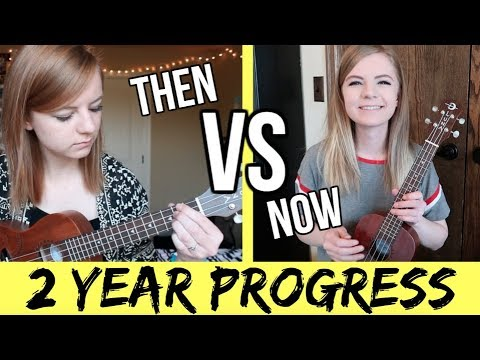 My ukulele progress over the first 2 years of playing!