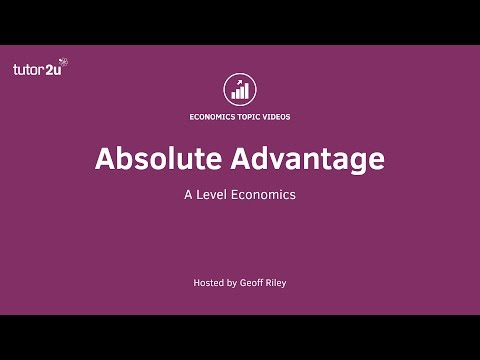 Trade Theory - Absolute Advantage