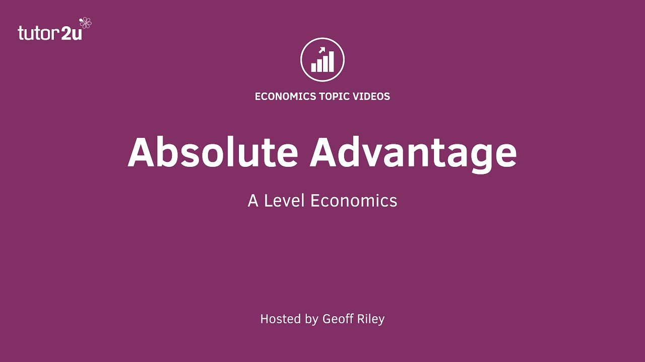 the end of at ts absolute advantage Someone may have an absolute advantage at producing every single thing, but he has a comparative advantage at many fewer things, and probably only one or two things.