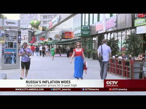 Inflation in Russia: Consumer prices hit three year high